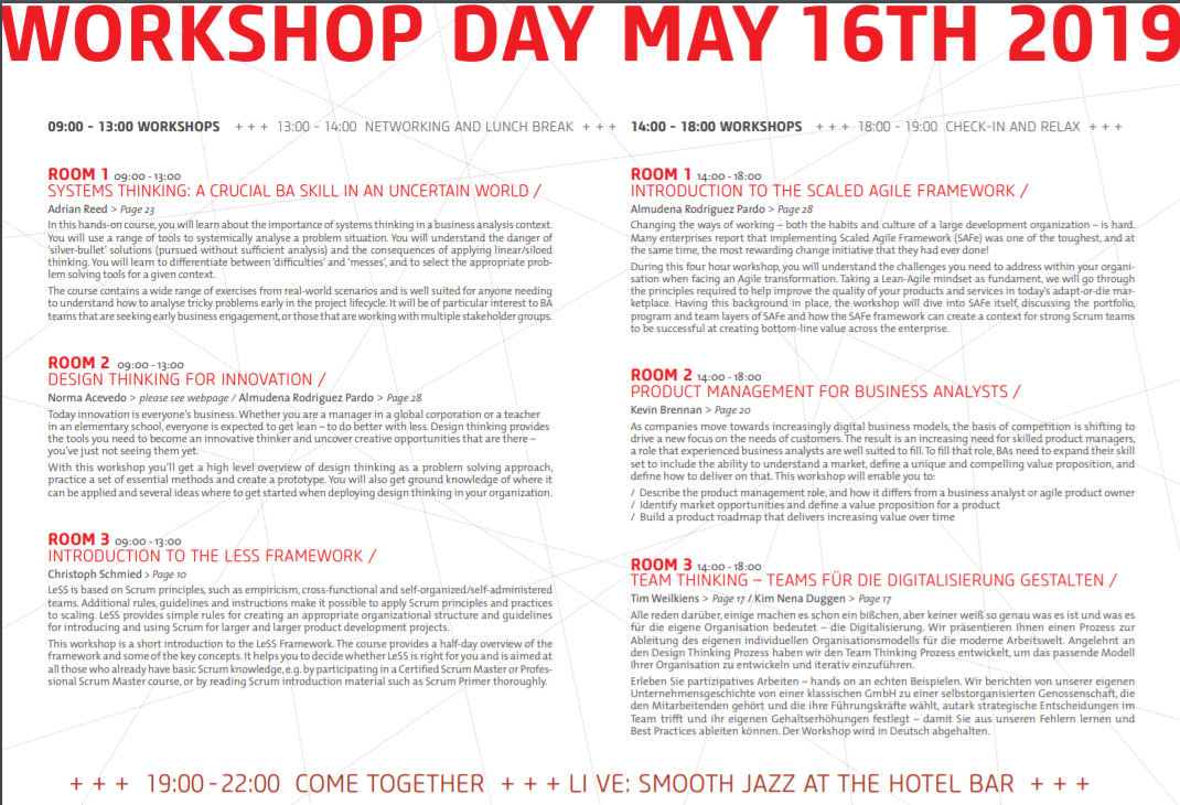 Report about the 2nd European BA-DAY in May 2019 | European